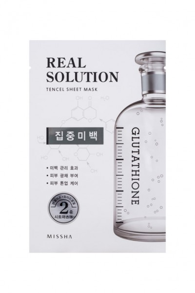 MISSHA Real Solution Tencel Sheet Mask (Pure Whitening) GLUTATHIONE