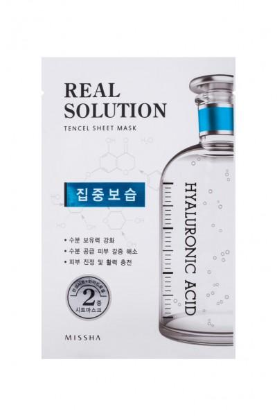 MISSHA Real Solution Tencel Sheet Mask (Intensive Moisturizing) HYALURONIC ACID