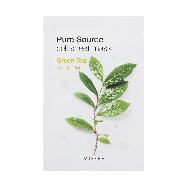 MISSHA_Pure_Source_Cell_Sheet_Mask_Green_Tea1