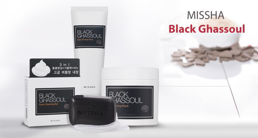 MISSHA_Black_Ghassoul_Series