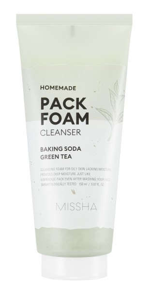 MISSHA Homemade Pack Foam Cleanser (Baking Soda Green Tea Pack Foam)